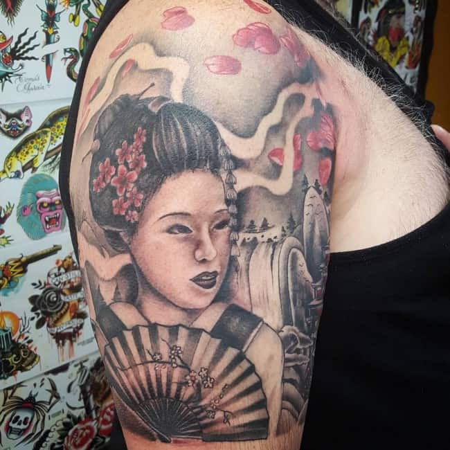 100 japanese geisha tattoos and meanings april 2018 part 3. Black Bedroom Furniture Sets. Home Design Ideas