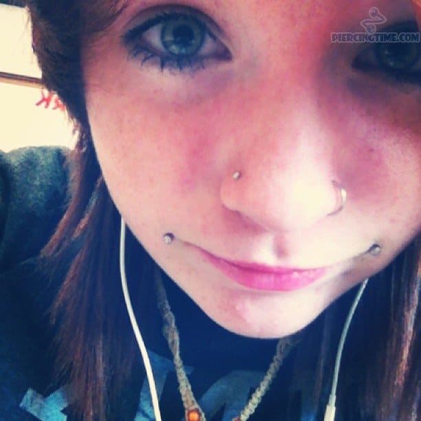 Nostrils And Dahlia Bites Piercings