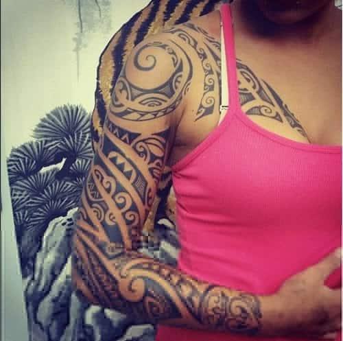 Polynesian Spear Head With Shark Teeth Tattoo