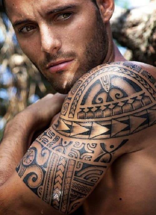 Shark Teeth Turtle Spear Head Polynesian Tattoo