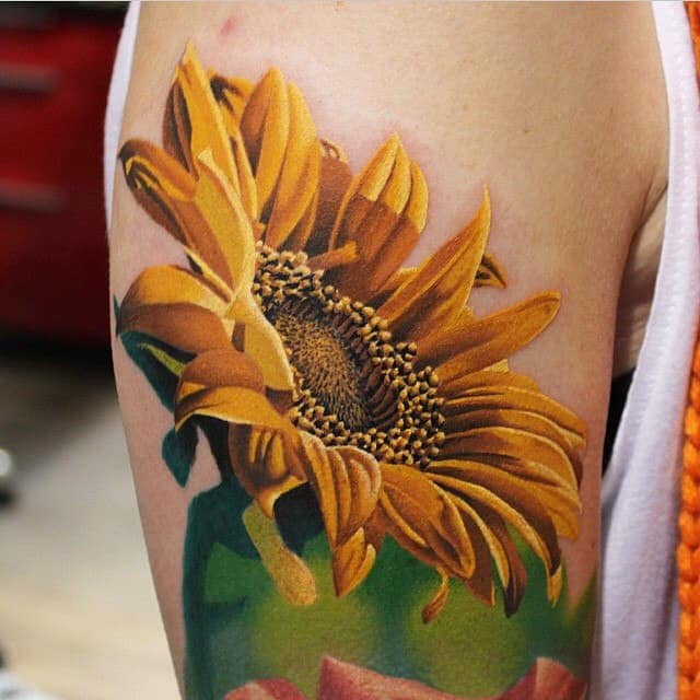 Tattoo Ideas Sunflower: 150 Vibrant Sunflower Tattoos And Meanings (April 2018