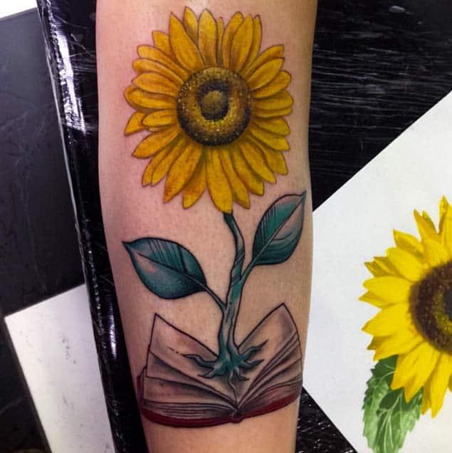 Sunflower Tattoo Design by Gugo