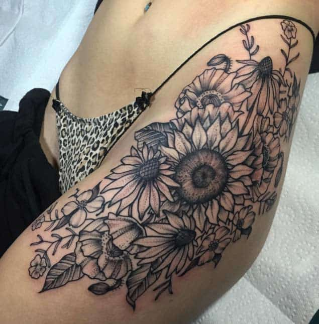 Sunflower Henna Tattoo: 150 Vibrant Sunflower Tattoos And Meanings (December 2018