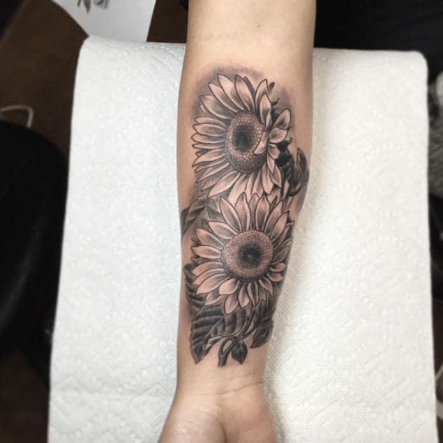 Sunflower Tattoo by Matt Laster