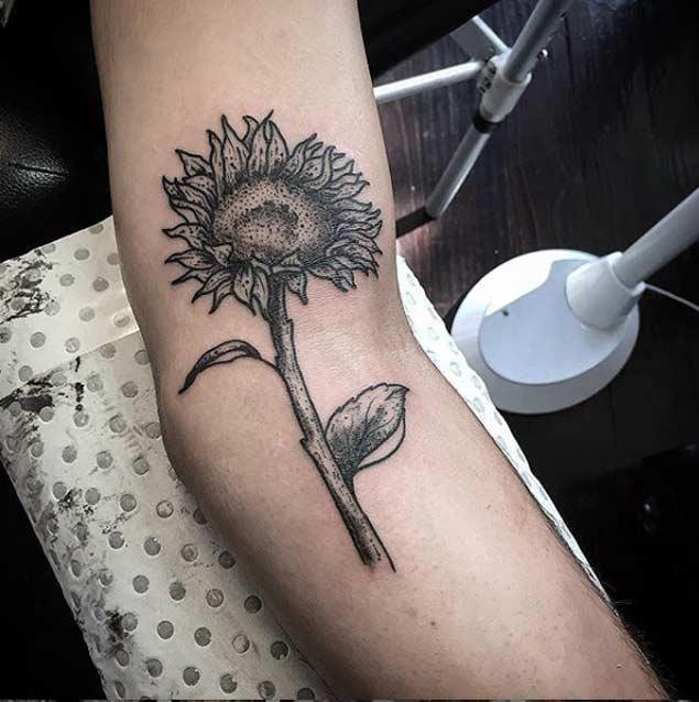 Sunflower Tattoo Design by Wolf & Wren