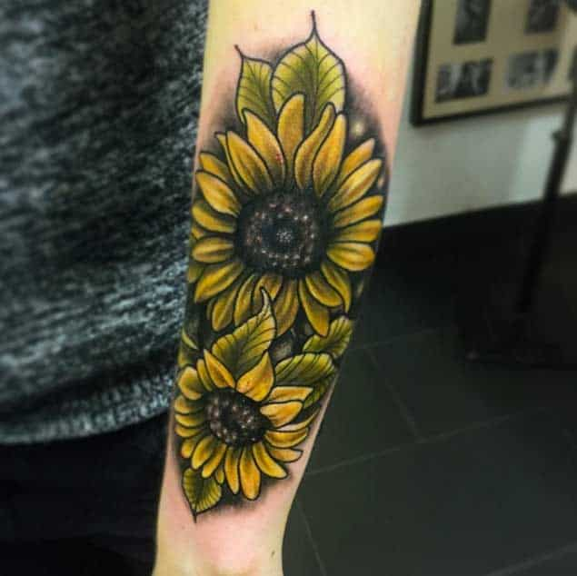 Sunflower Tattoos by Saro
