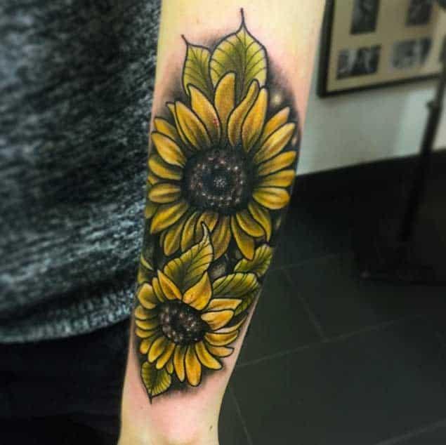 Sunflower Tattoos by Saro