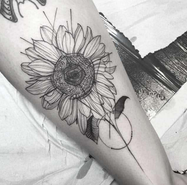 Sunflower Tattoo by Freda Oliveira