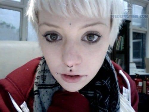 Third Eye, Septum, Medusa And Dahlia Bites Piercing