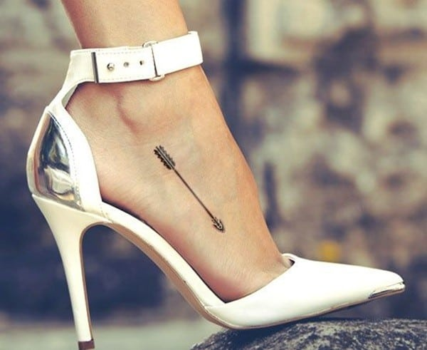 Arrow Foot Tattoo