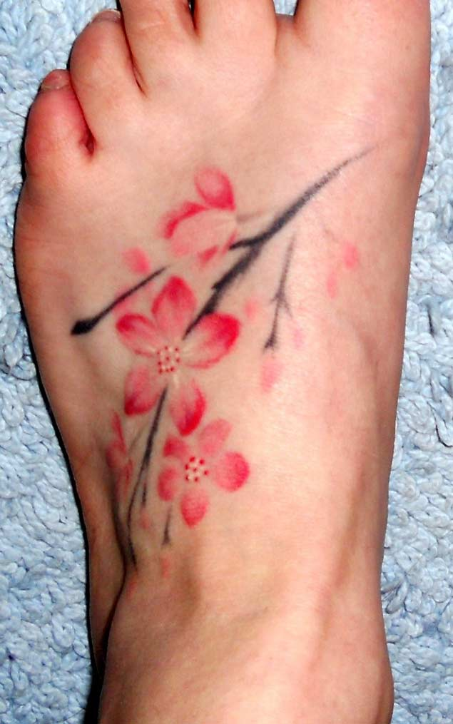 cherry-blossom-foot-tattoo