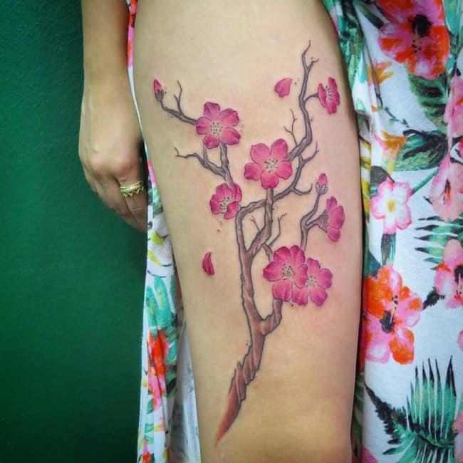 Cherry Blossom Tattoo: 150 Cherry Blossom Tattoos & Meanings (Ultimate Guide 2020