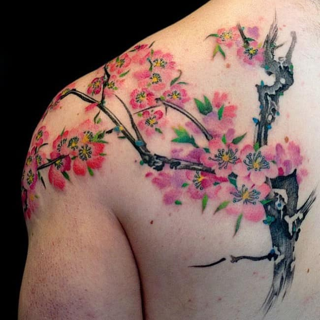 150 Cherry Blossom Tattoos Meanings Ultimate Guide 2019