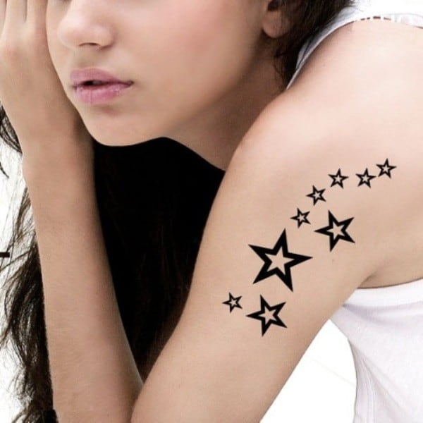 Cute Star Tattoo For Girls