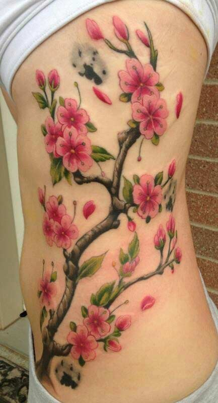 large cherry blossom tattoo