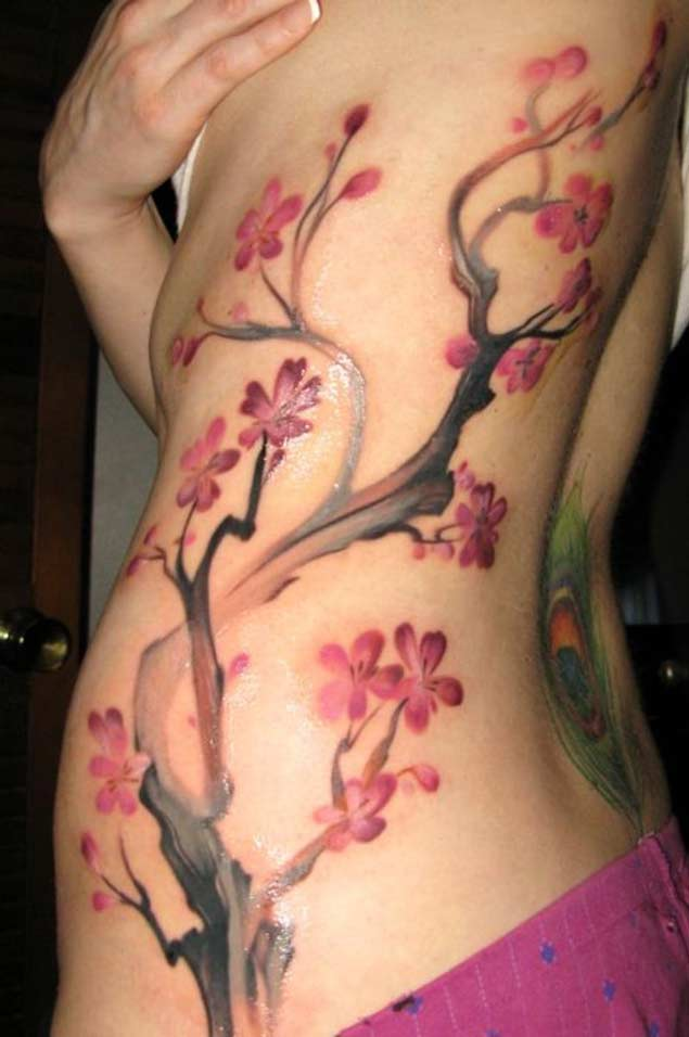 stunning-cherry-blossom-tattoo