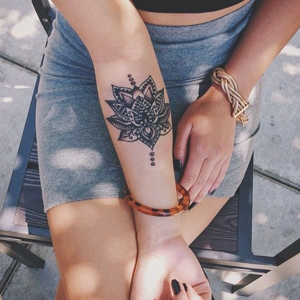 Tribal Lotus Tattoo