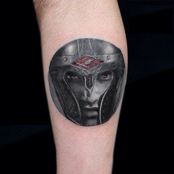 warrior tattoo on forearm