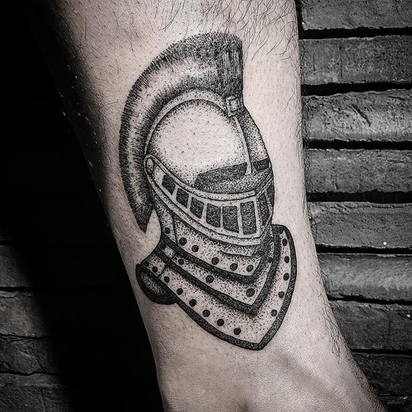 forearm warrior tattoo designs