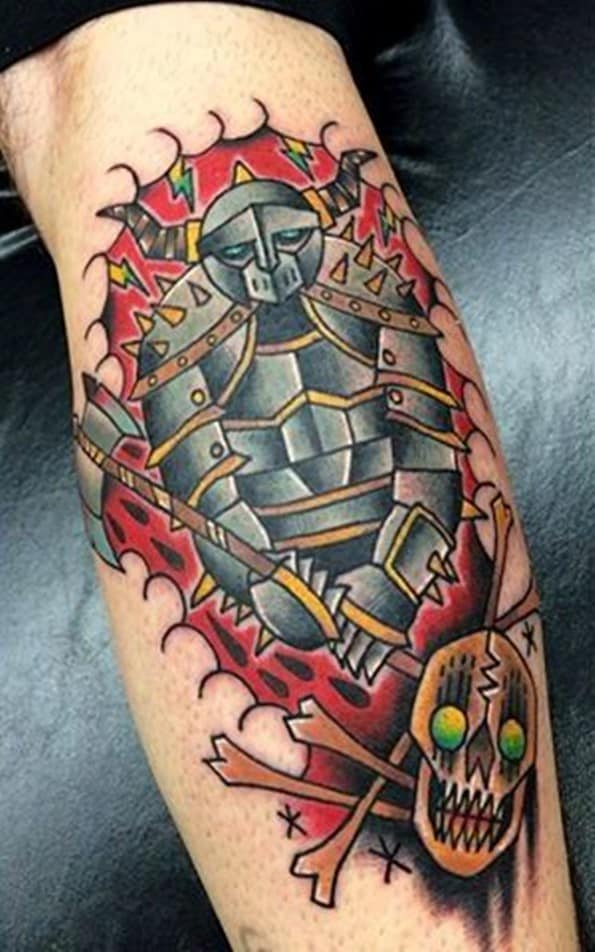 warrior tattoo on arm