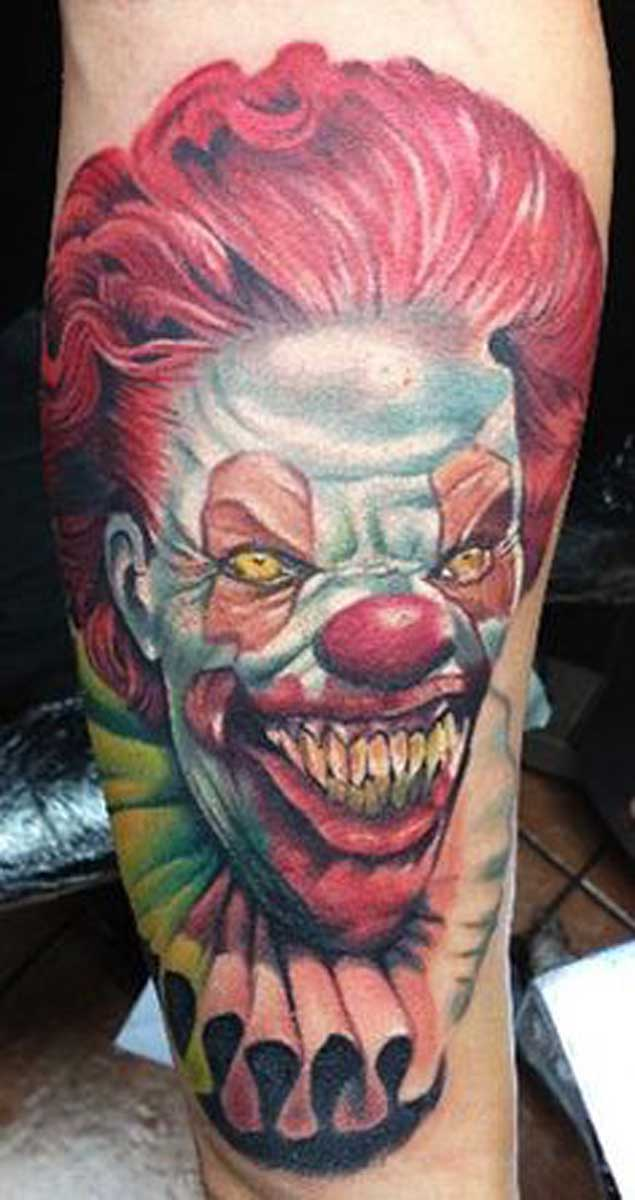 100+ Hilarious Clown Tattoos Meanings (September 2019)