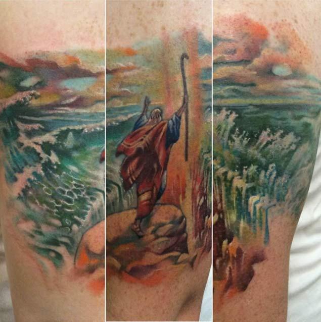 Moses-red-sea-tattoo