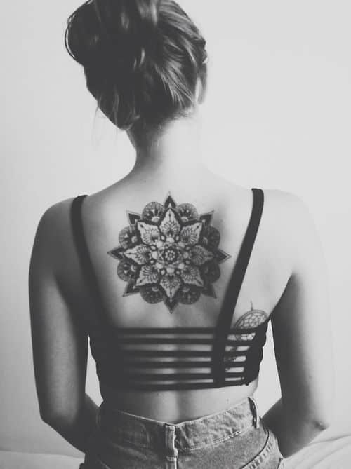 tattoo on womans back