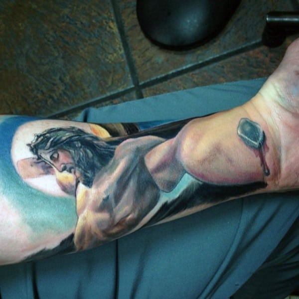 color-male-christian-forearm-tattoos