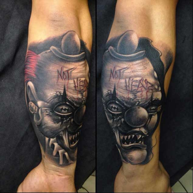 803e63f6f 100+ Hilarious Clown Tattoos Meanings (June 2019)