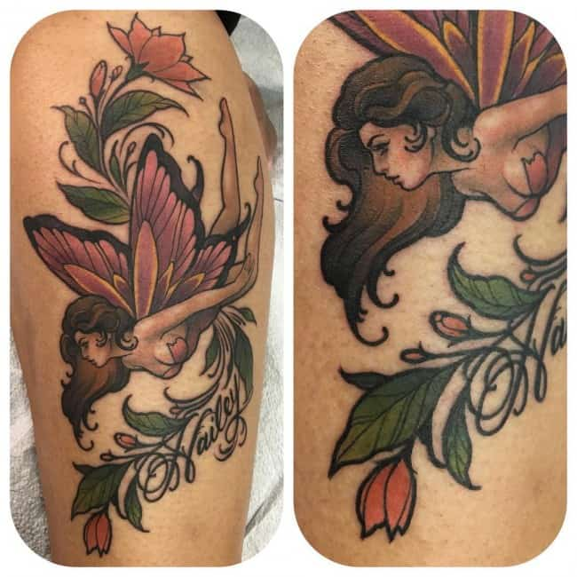 fairy tattoo on arm