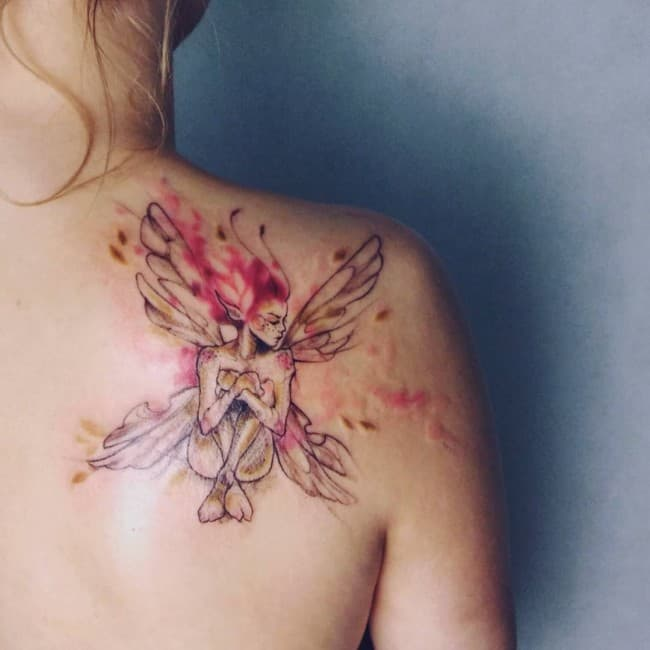 a2292f2035685 148 Most Attractive Fairy Tattoos Meanings (July 2019)