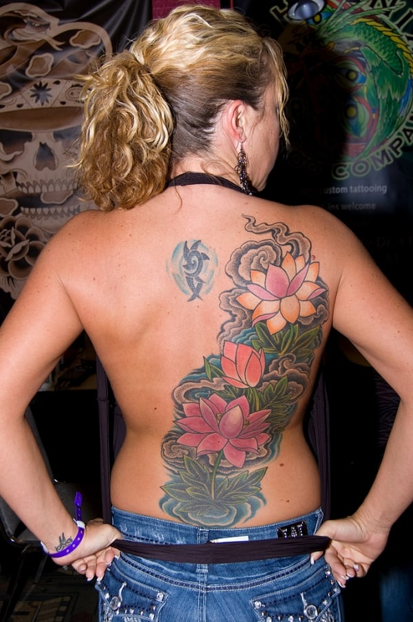 Flowery Back Tattoo