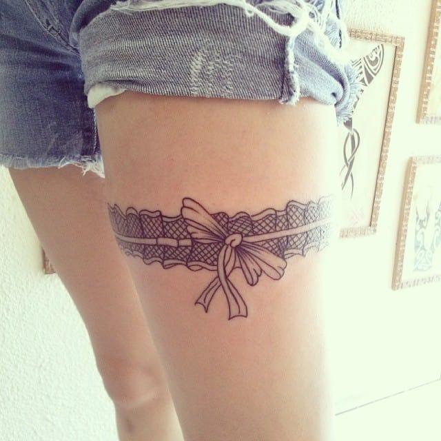 garter ribbon tattoo
