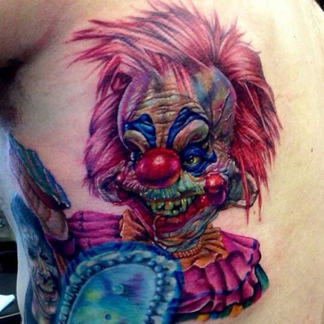 Killer Clown From Outer Space Tattoo