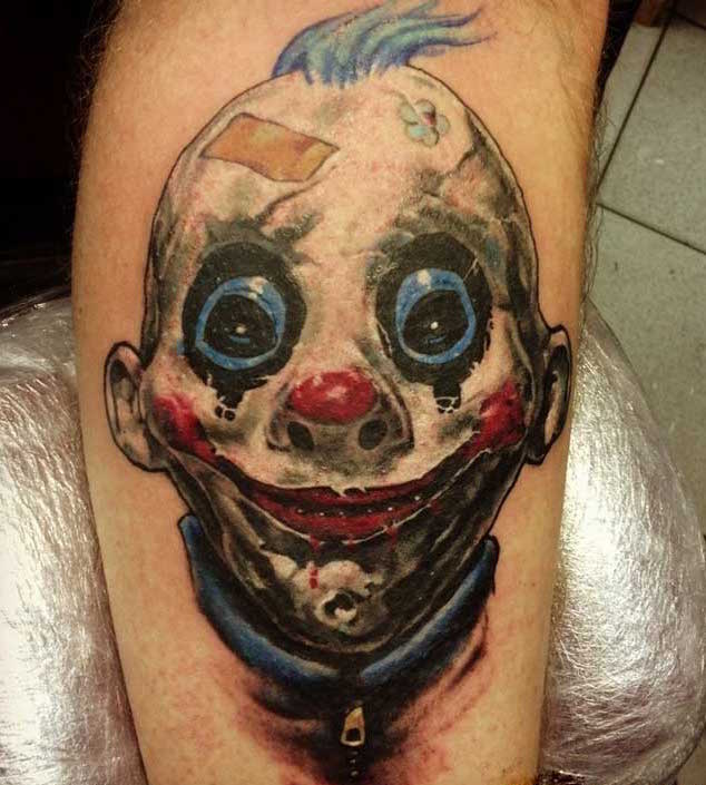 killer-clown-tattoo
