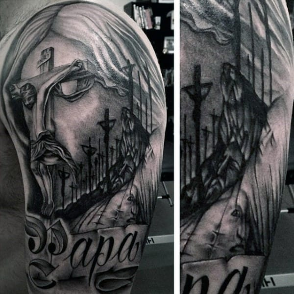 man-with-half-sleeve-christian-tattoos