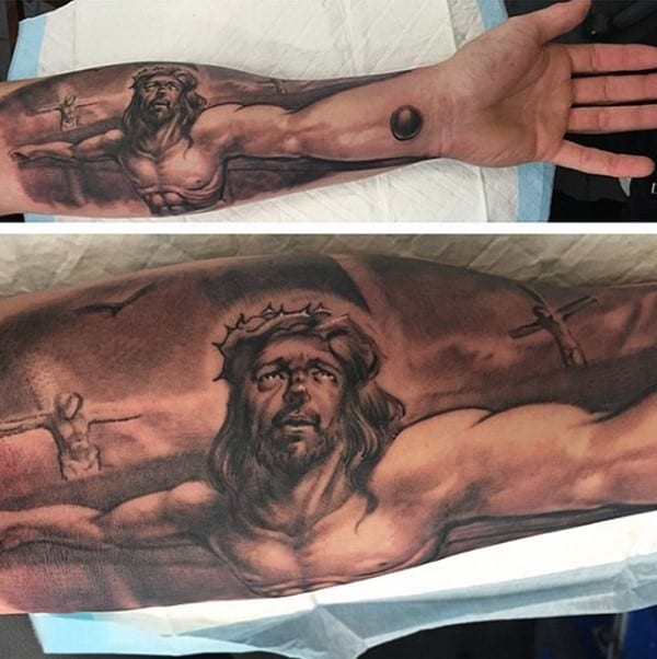 mens-christian-warrior-tattoos-of-jesus-on-cross