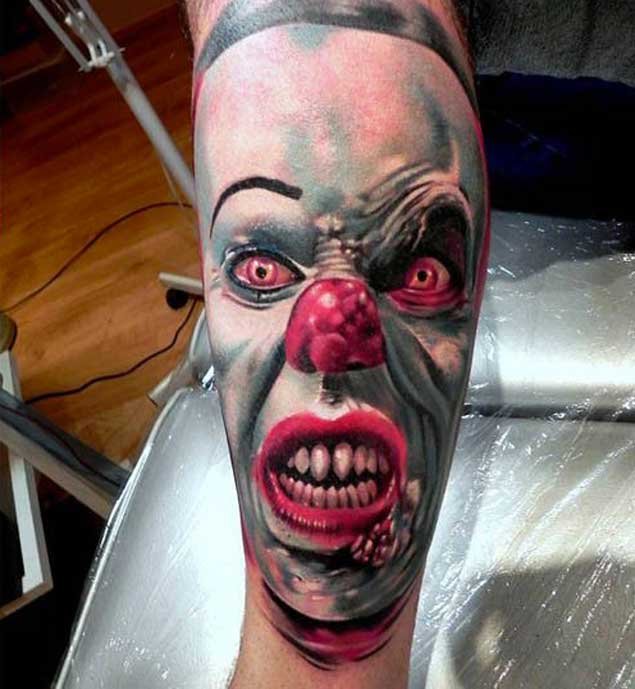 pennywise-scary-clown-tattoo