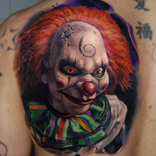 scary-clown-doll-tattoo