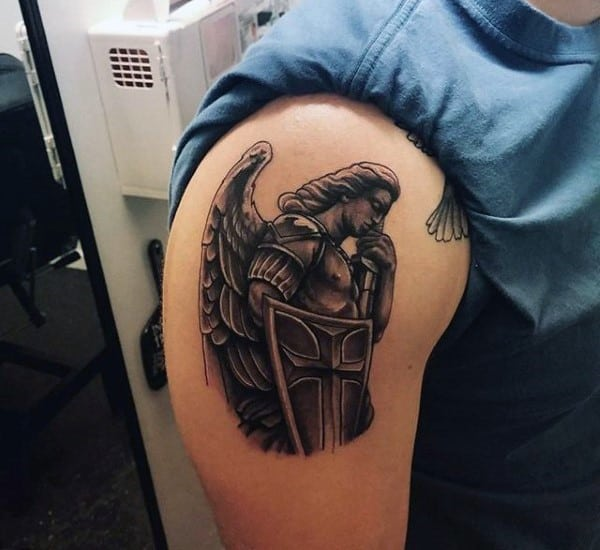 small-christian-tattoo-on-males-st-michael