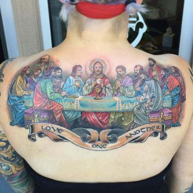 the-last-supper-color-tattoo