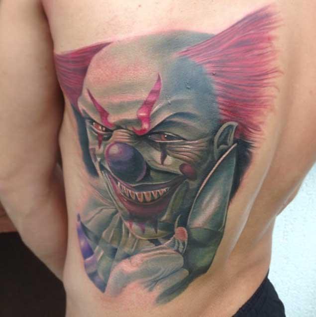 Wicked Clown Tattoo