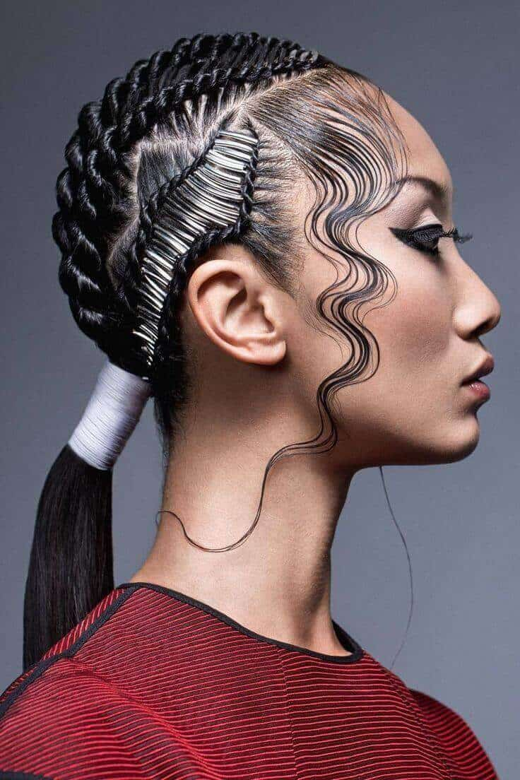 cornrows goddess hairstyle
