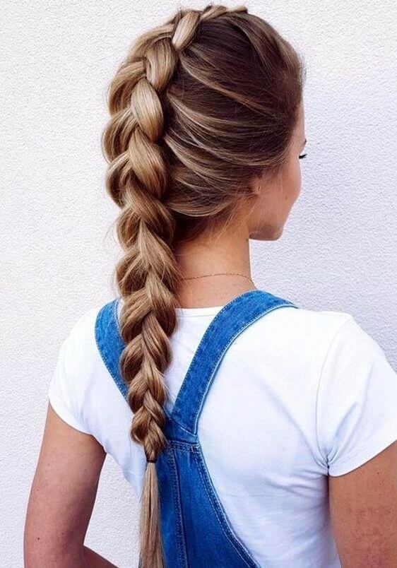 elevated french braid