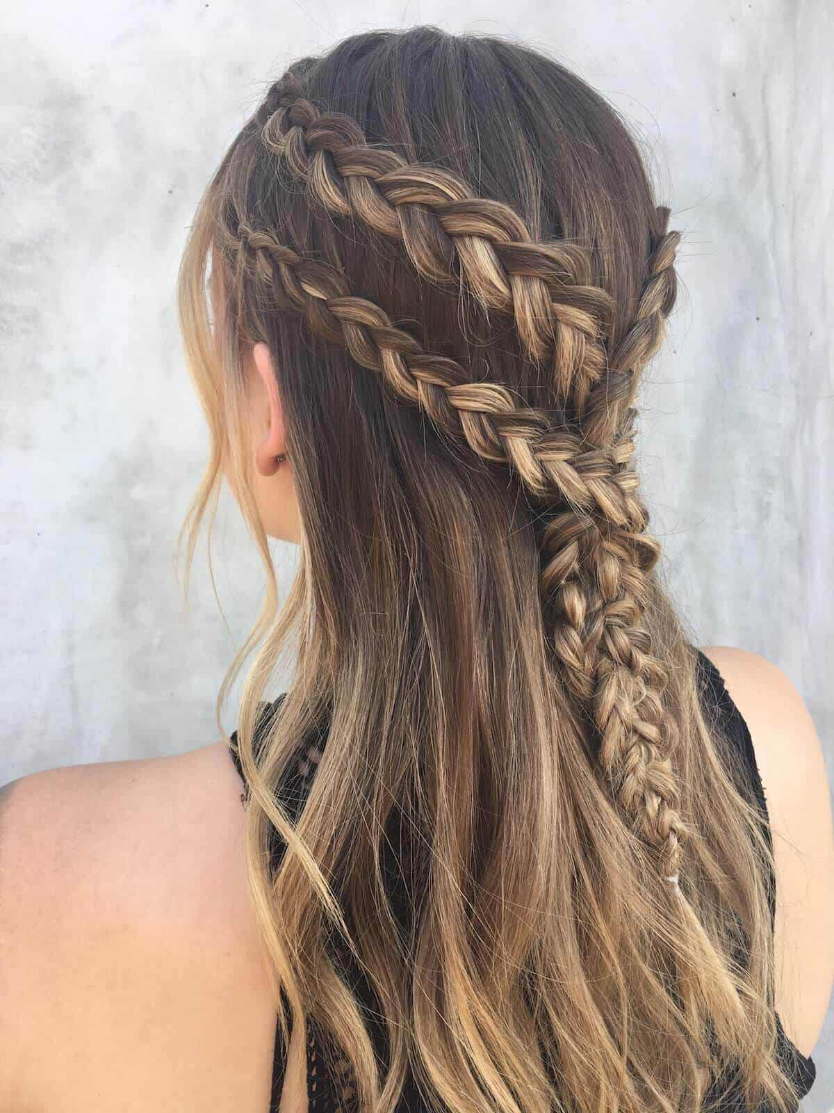 long tumbling braids