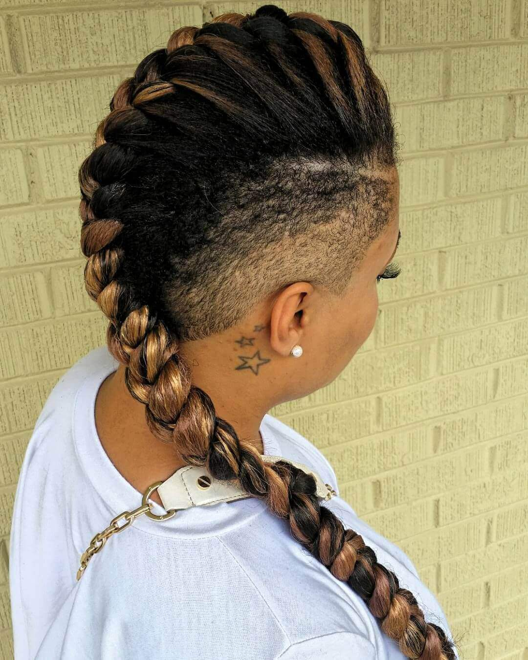mohawk inspired braid