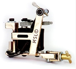 Brass Hybrid Tattoo Machine from Micky Sharpz