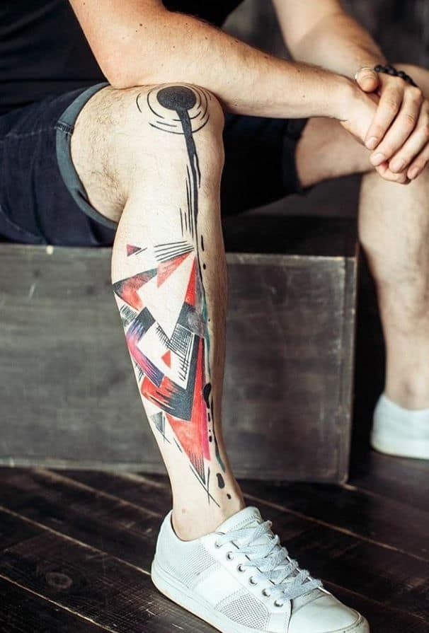 augmented reality leg tattoo