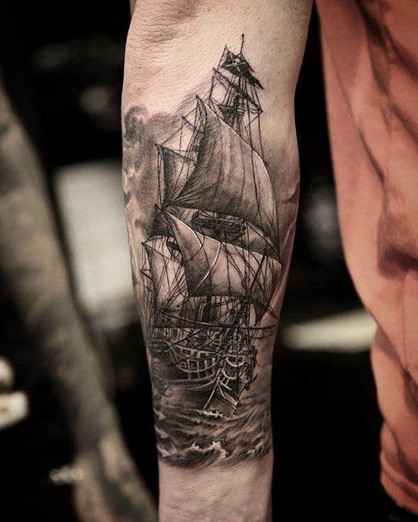 boat sleeve tattoo