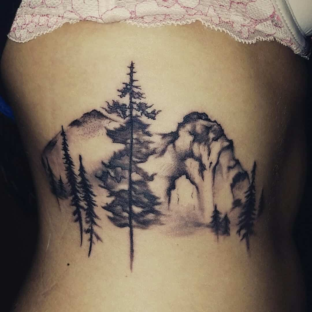 mountain rib tattoo